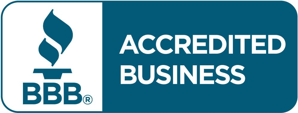 Better Business Bureau logo. We have a BBB rating of A+. Click to review our profile or to leave a review!